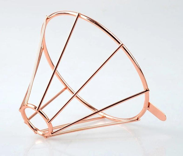 Rose Gold Metal Reusable Coffee Filter Holder