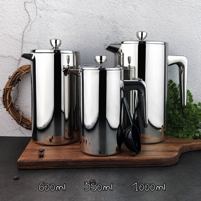 Stainless Steel French Press Percolators Coffee Maker