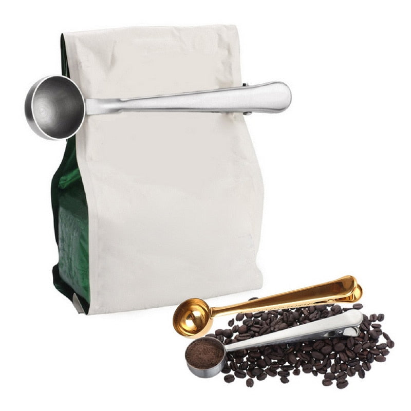 Super Functional Coffee Bag Clip and Measuring Spoon
