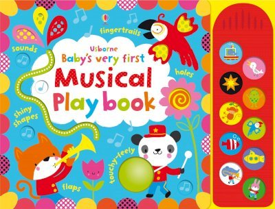 Usborne Baby's Very First Touchy-Feely Musical Playbook - Sound Book - Hardback
