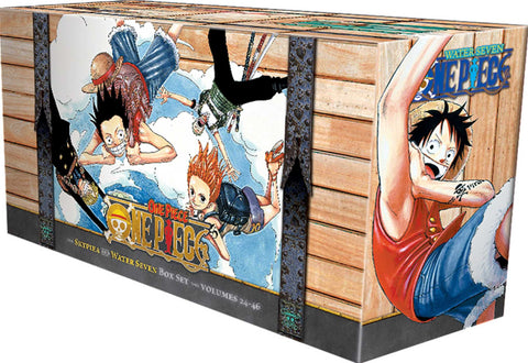 One Piece Box Set 2: Skypeia and Water Seven: Volumes 24-46 with Premium