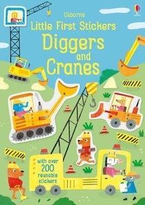 Little First Stickers Diggers and Cranes - Paperback