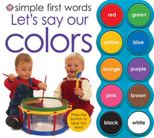 Simple First Words Let's Say Our Colors - Board Book - Kool Skool The Bookstore