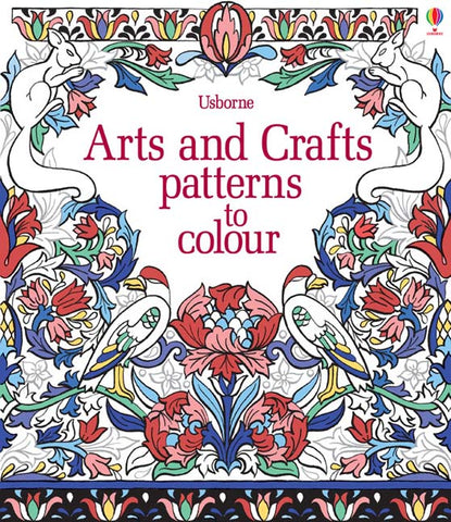 Arts & Crafts Patterns To Colour - Paperback