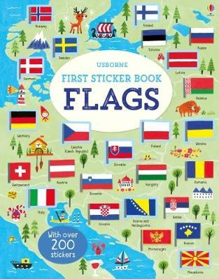 First Sticker Book Flags - Paperback