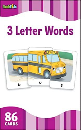 3 Letter Words Flash Cards - Kool Skool The Bookstore