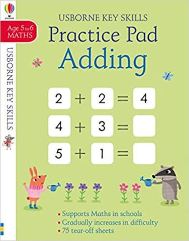 USBORNE KEY SKILLS : PRACTICE PAD ADDING - Kool Skool The Bookstore