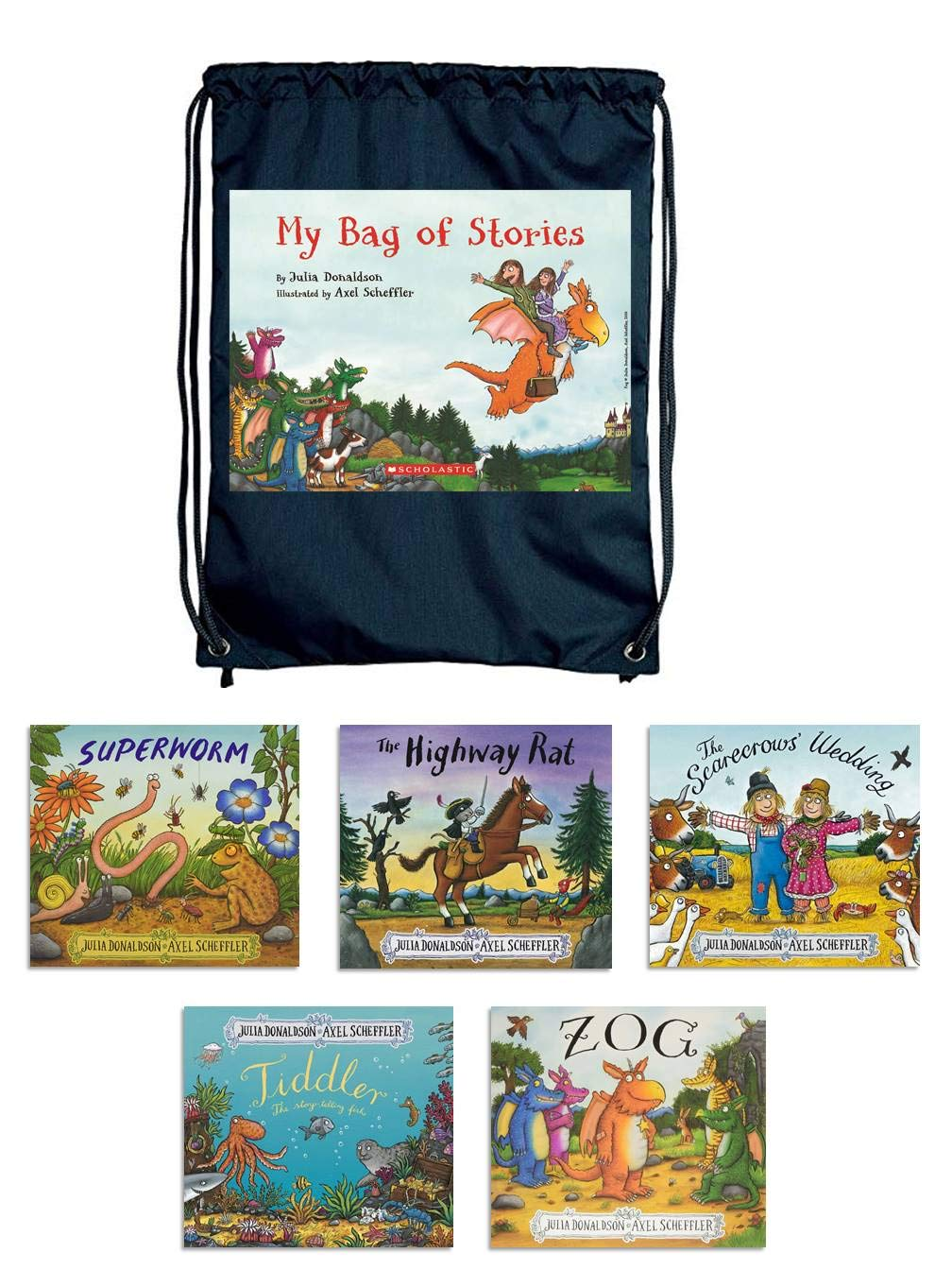 Julia Donaldson - My Bag of Stories Set Of 5 Books - Paperback