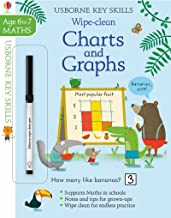 Usborne Wipe-Clean :  Charts & Graphs  Age 6-7 - Kool Skool The Bookstore