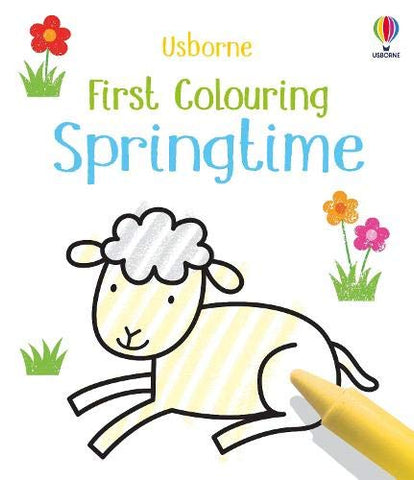 First Colouring Springtime - Paperback