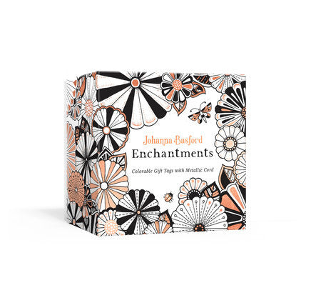 Johanna Basford Enchantments: Colorable Gift Tags with Metallic Cord