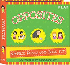 FLAP Opposites 24-piece Puzzle-and-Book Kit - Kool Skool The Bookstore