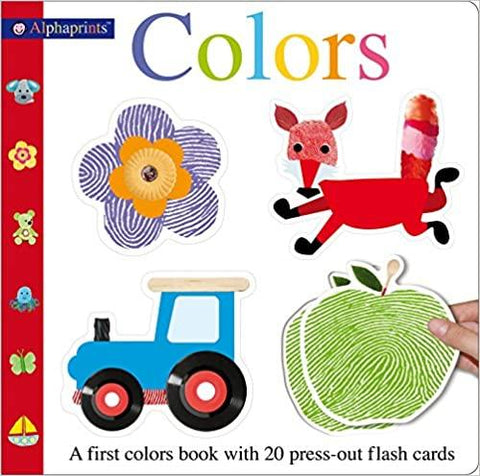 Alphaprints Colors Flash Card Book: A First Colors Book - Board Book - Kool Skool The Bookstore