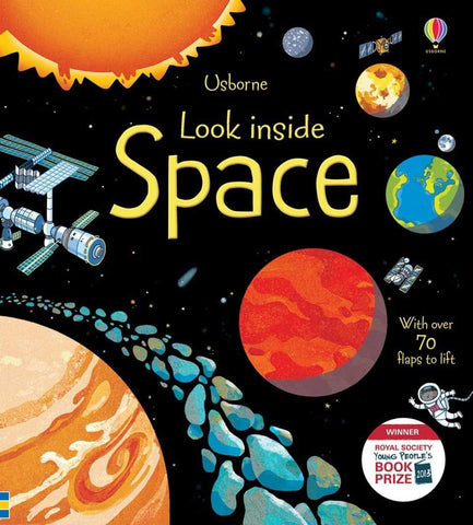 Usborne Lift the Flap : Look Inside Space - Kool Skool The Bookstore