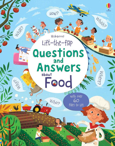 Usborne Lift the Flap : Questions and Answers about Food - Kool Skool The Bookstore