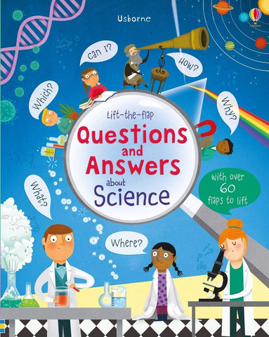 Usborne Lift-The-Flap Questions and Answers about Science - Kool Skool The Bookstore