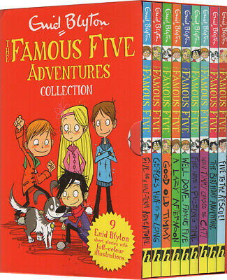 PRE-ORDER : The Famous Five Adventures Collection: Colour Short Stories Slipcase of 9 Books - Paperback - Kool Skool The Bookstore