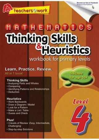 SAP Mathematics Thinking Skills & Heuristics Primary 4 - Paperback - Kool Skool The Bookstore