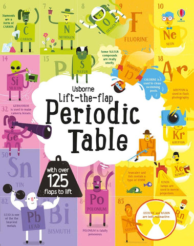 Usborne Lift-The-Flap Periodic Table - Kool Skool The Bookstore