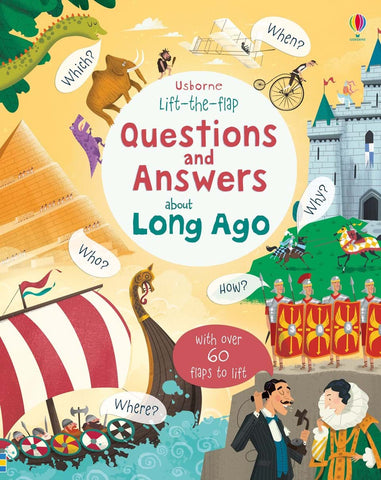 Usborne Lift the Flap : Questions and Answers about Long Ago - Kool Skool The Bookstore