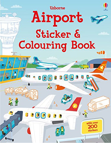 Airport Sticker and Colouring Book - Paperback
