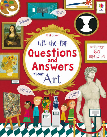 Usborne Lift the Flap : Questions & Answers About Art - Kool Skool The Bookstore