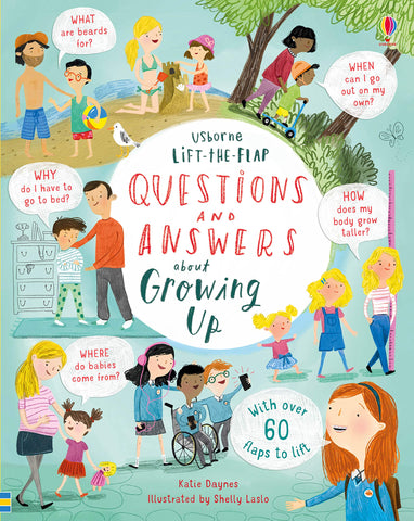 Usborne Lift the Flap : Questions & Answers about Growing Up - Kool Skool The Bookstore