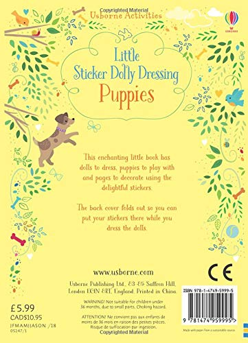 Little Sticker Dolly Dressing Puppies - Paperback