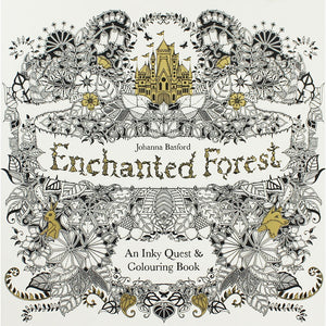 Enchanted Forest: An Inky Quest & Colouring Book - Paperback - Kool Skool The Bookstore