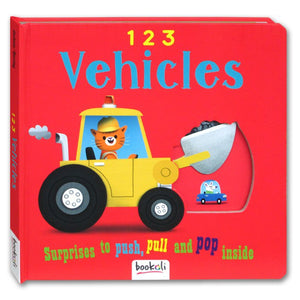 Vehicles 123 (Push, Pull, Pop, Learn!) - Kool Skool The Bookstore