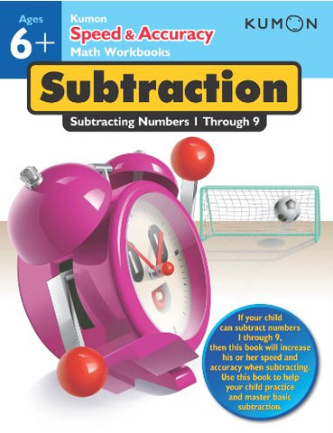 Kumon Workbooks : Kumon Speed & Accuracy Subtracting Numbers 1-9 - Paperback