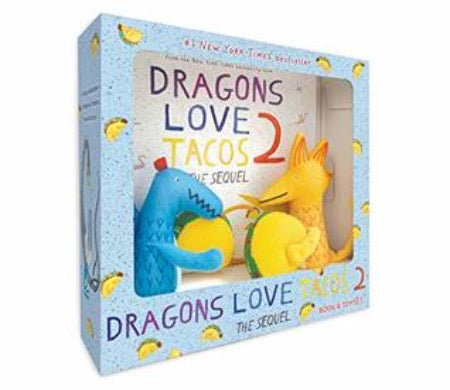 Dragons Love Tacos 2 Book and Toy Set - Hardback - Kool Skool The Bookstore