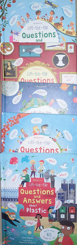 Usborne Lift The Flap Question Answer Collection Set Of 5 Books - Hardback