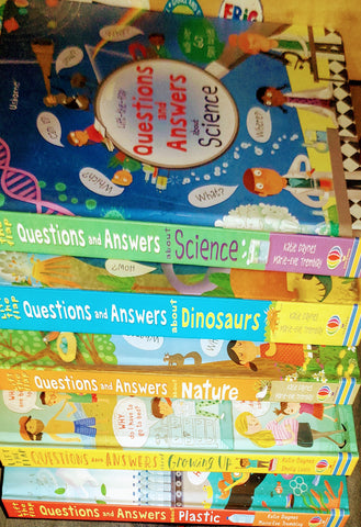 Usborn LTF Question & Answer Collection Set Of 5 Books ( Set 2) - Hardback