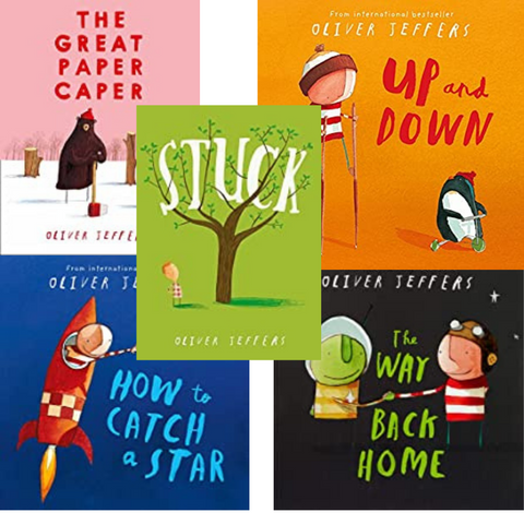 Oliver Jeffers Picture Book Collection Set Of 5 Books - Paperback