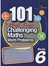 SAP 101 Must Know Challenging Maths Word Problems Level 6 - Paperback - Kool Skool The Bookstore