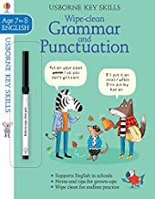 Usborne Wipe-clean : Grammar & Punctuation Age 7-8 - Kool Skool The Bookstore