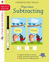 Usborne Wipe-clean :  Subtracting Age 5-6 - Kool Skool The Bookstore