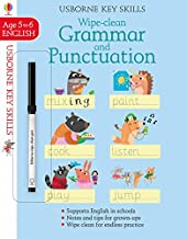 Usborne Wipe Clean :  Grammar And Punctuation Age 5-6 - Kool Skool The Bookstore