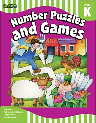 Number Puzzles and Games: Grade Pre-K-K - Kool Skool The Bookstore