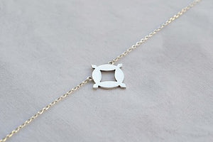 Collier Choker Astra argent