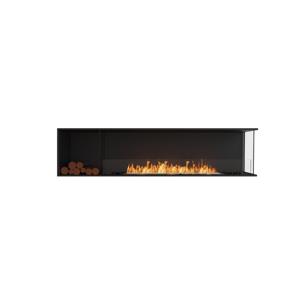 Flex 86RC.BXL: Right Corner Fireplace Insert - EcoSmart Fire