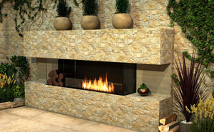 Flex 60BY.BXL: Bay Fireplace Insert - EcoSmart Fire