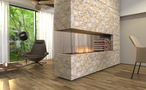 Flex 158PN: Peninsula Fireplace Insert - EcoSmart Fire