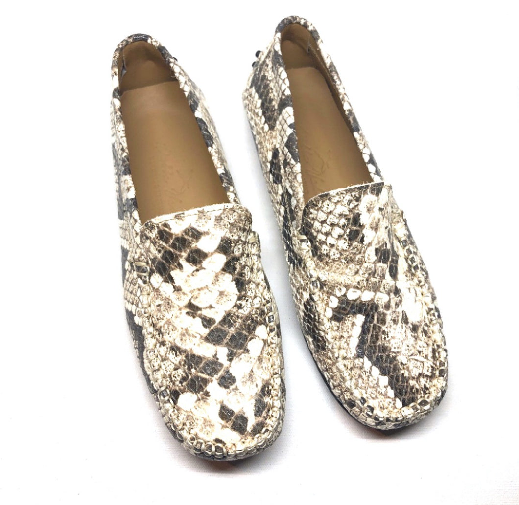 Snake leather loafer