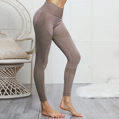 Seamless High Waist Scrunch Gym Leggings