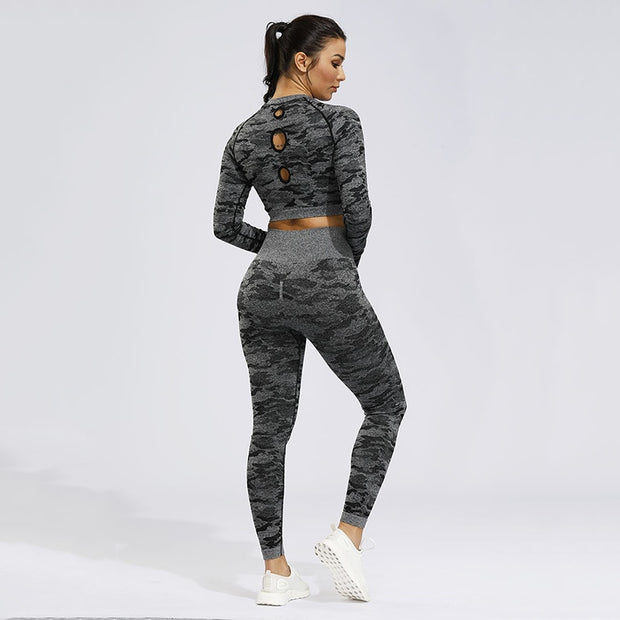 Camo Seamless Yoga Set