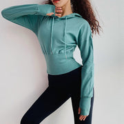 Cotton Crop Tops Hoodie