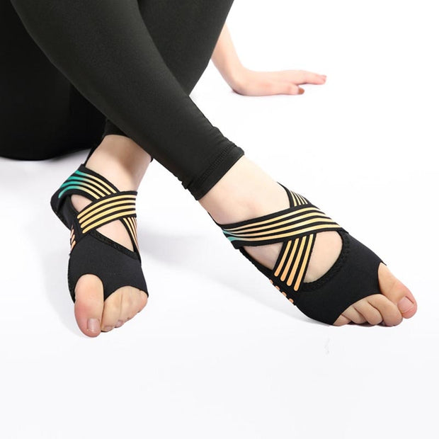 Cross Wrap Yoga Socks