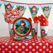 "Load image into Gallery viewer, Little Red Riding Hood 7"" Party Dessert Paper Plates, 8ct"